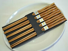 Antiskid Durable Classic Handmade Natural Bamboo Chopsticks Gift 5 Pairs 05