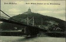 Porta Westfalica ~1910 Kaiser Wilhelm Denkmal Wittekindberg Brücke Fluß Bauwerk