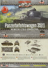 """panzerbefehlswagen"" German Tank 35(t), First To Fight, 1/72 Plastic Model Kit"