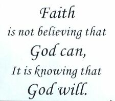Faith is not Believing Vinyl Wall Sticker Religious Quote Decal Home Bedroom Hot