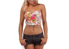 Mooloola Christina Floral Crop Top Size 10 Pattern Floral Polyester and Cotton
