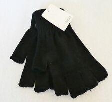 Günstige Damen-Strick-Finger-Handschuhe ohne Finger, Einheitsgröße, schwarz