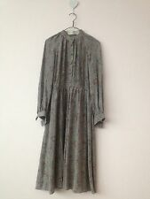 Silk Crepe Vintage Christian Dior Boutique Long Sleeve Dress size Small S