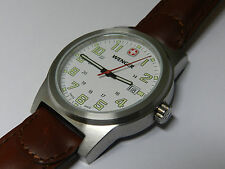 Wenger watch Men's  field classic, leather strap swiss made NEW