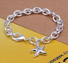 Armband Kette Stern Seestern Anhänger Zirkonia  versilbert Silber 925 Charm
