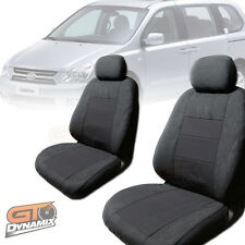 KIA GRAND CARNIVAL SEAT COVERS F+M+R 01/2006-2014 AIRBAG SAFE Charcoal