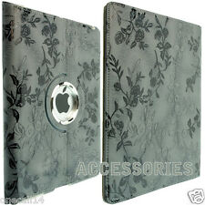 FOR APPLE IPAD 2 IPAD 3 360 ROTATION FLORAL LEATHER CASE COVER WALLET IPAD 4