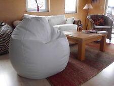 """Sitzsack"""" von Lux """" ca. 370 Liter Lederimitat  weiß / Vintage Heine Lounge"""