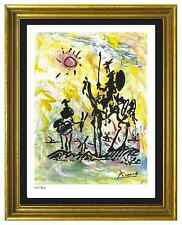 "Pablo Picasso Signed & Hand-Numbered Limited Ed ""Don Quixote"" Lithograph Print"