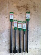 Hitachi SDS-Max 5 Piece Chisel Set -Top Quality- European Manufactured.