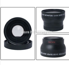 Fashion 55mm 0.45X Wide Angle Macro Conversion Lens For Canon Nikon Sony Camera