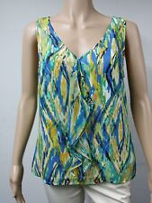 NEW - FAST to AUS - Tahari - Size M - Sleeveless Top - Multicolored Blue / Green