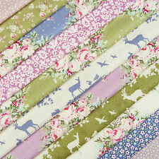 Tilda Autumn Tree Fabric Scrap Pack / quilting deer stag rose florals lilac blue