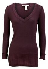New Women ladies gorgeous knitted burgundy jumper top size - 12