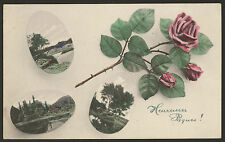 Heureuse Pâques. Happy Easter. France. Early French Easter Postcard