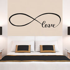 BIG INFINITY LOVE Faithfulness Quote Wall Stickers Bedroom Removable Decals DIY