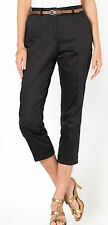 ANNE WEYBURN STRETCH COTTON SATIN CROPPED TROUSERS SIZE 18 UK (EU 46)
