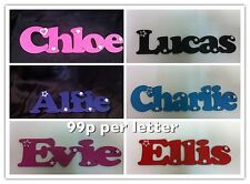 Personalised wooden name plaques childs door wall signs letters gift present boy