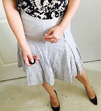 COUNTRY ROAD DESIGNER  MADE IN AU LINEN METAL SKIRT SZ 10
