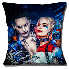 "SUICIDE SQUAD FILM 'HARLEY QUINN & JOKER' MULTICOLOUR 16"" Pillow Cushion Cover"