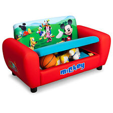 NEW DELTA CHILDREN DISNEY MICKEY MOUSE CHILDS UPHOLSTERED SOFA WITH STORAGE