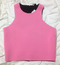 COTTON ON 'ALANIS' CUT AWAY CROP TOP NEOPRENE BNWT SZ S FREE POSTAGE (A55)