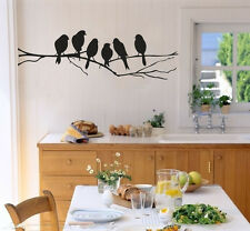 Black Birds Branch Tree Wall Stickers Removable Vinyl Decals DIY Art Home Mural