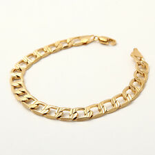 Cool Simple 18K Solid Yellow Gold Filled Men's Bracelet Chain Gift B173