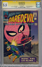 DAREDEVIL #17 CGC 5.5 SS STAN LEE SIGNED CGC # 1197086014
