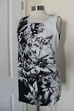 size 12 stunning black and white chiffon top from wallis brand new