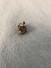 Auth. Lovelinks Bead Sterling Silver Dog  Fashion Charm Jewelry