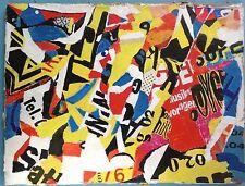 2/3 Gemälde Collage Kalligraphie Textbild lyrisch abstrakt Erich Frauenberger~60