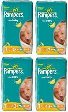 Pampers Windeln New Baby Newborn GR.1 2-5kg 43 X 4 = 172 Stück 100% ORYGINAL