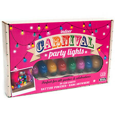 Multi-Coloured Indoor Carnival/Circus 20x LED Party Lights 5m Battery Powered