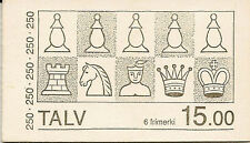 FAROE ISLANDS BOOKLET : 1983 Chess Pieces SG SB2 unmounted mint