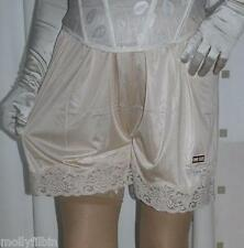 3 pairs of vintage style gold silky nylon gusset french knickers panties