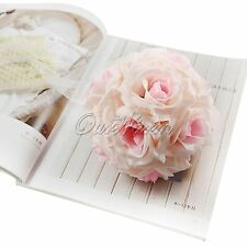 5pcs Artificial Silk Flower 15cm Kissing Balls Wedding Centerpiece Decorations