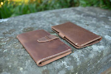 Handmade Genuine Rustic Leather Samsung S6 iPhone 6 Wallet Case Universal Size