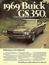 1969 BUICK GS 350 A3 POSTER AD SALES BROCHURE ADVERTISEMENT ADVERT