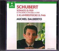 Michel DALBERTO: SCHUBERT Piano Sonata D.959 Klavierstücke D.946 Erato CD