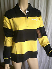 BNWT Ladies Sz 20 Genuine Wrangler Navy/Lemon Long Sleeve Lilly Rugby Jumper
