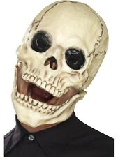 Skeleton Skull Mask With Moving Jaw Halloween Fancy Dress 01-44887