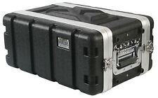 "Pulse 4U 19"" Short ABS Flight Rack Mount Equipment Case DJ PA Amp"