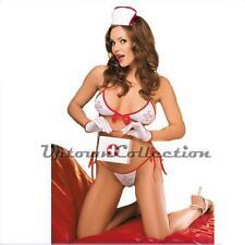 Ladies Bikini G String Swimwear 3 pce Fancy Dress Naughty sexy Nurse Costume New