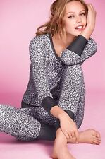 VICTORIA'S SECRET FIRESIDE LONG JANE THERMAL PAJAMA SET TOP & PANTS SIZE XSMALL