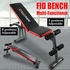 Adjustable Weight FID Bench Flat Incline Decline Press Fitness Exercise Gym Home