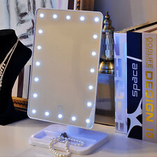 Touch 20 LED Lighted Make-up Mirror Adjustable Vanity Tabletop Illuminated Dress