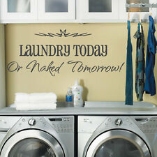 Laundry Washing Room Art Wall Quote Stickers, Wall Decals Words Lettering 22