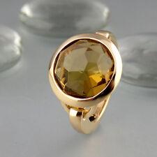 Ring mit Rauchquarz in 585/14k Gelbgold