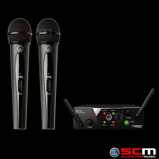 DUAL WIRELESS 2 HANDHELD MIC SYSTEM 660.7MHZ AUS LEGAL FREQUENCIES AKG WMS40MINI